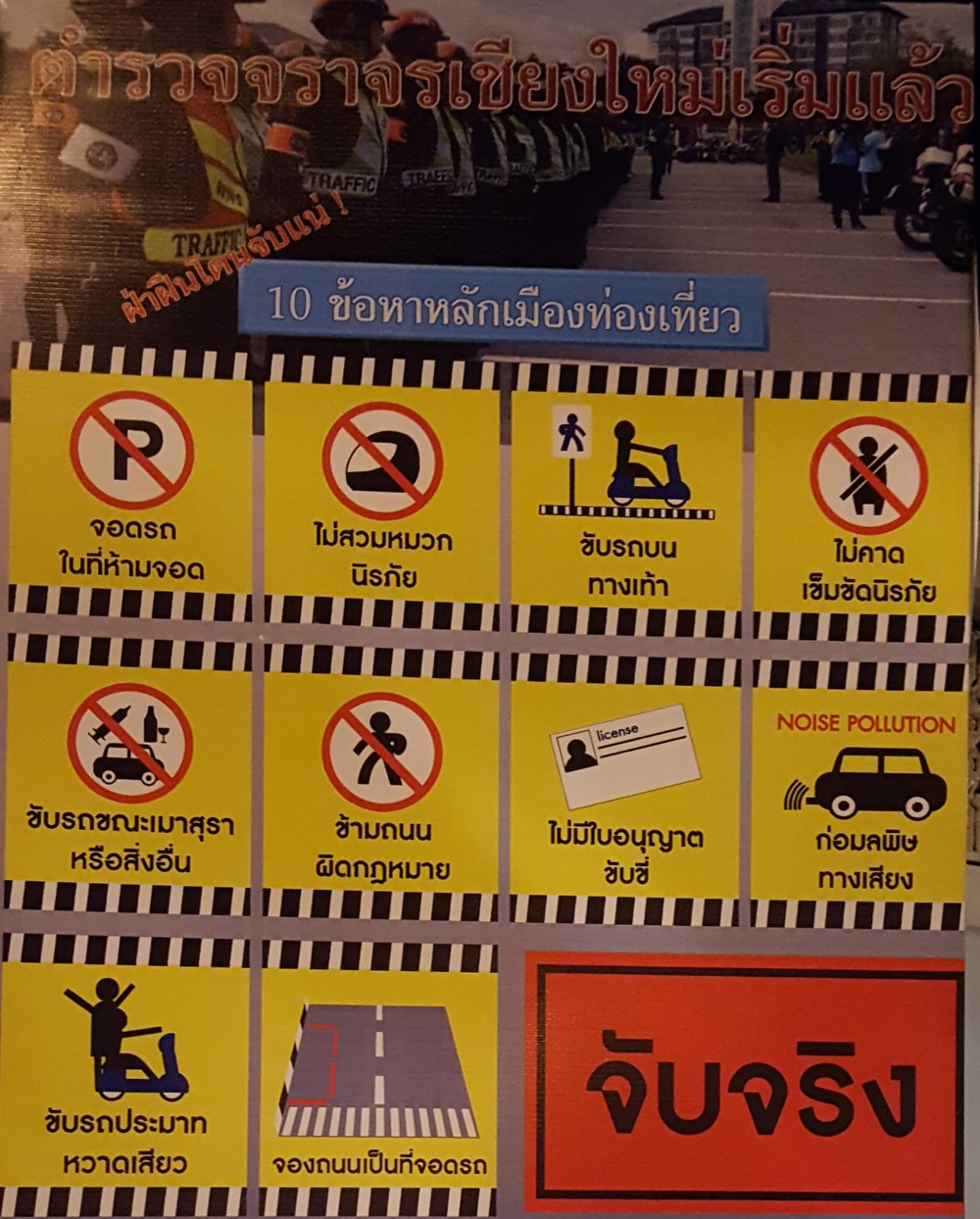 Chiang Mai Ambassador CCTV Network Police State Cameras and Signs